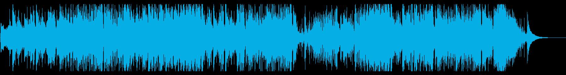 コンガ+トランペットのジャズテイスト曲の再生済みの波形