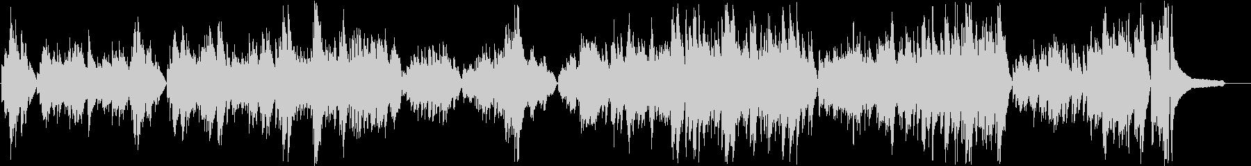 暗いイメージのピアノソロの未再生の波形