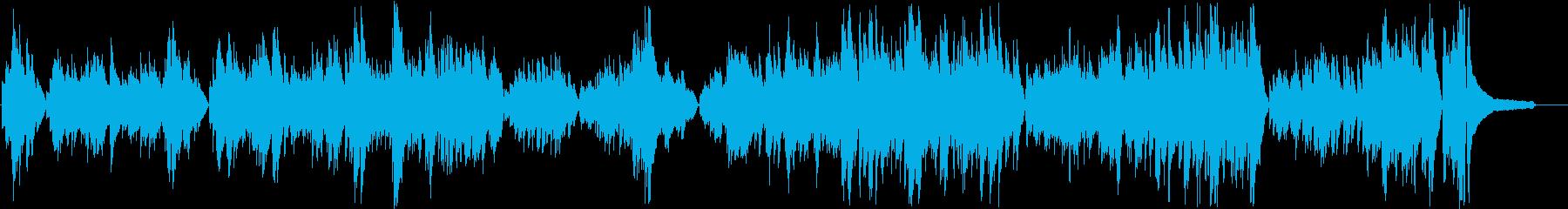 暗いイメージのピアノソロの再生済みの波形