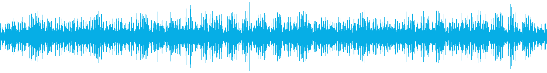 のんびりウクレレと木琴のゆるい曲の再生済みの波形