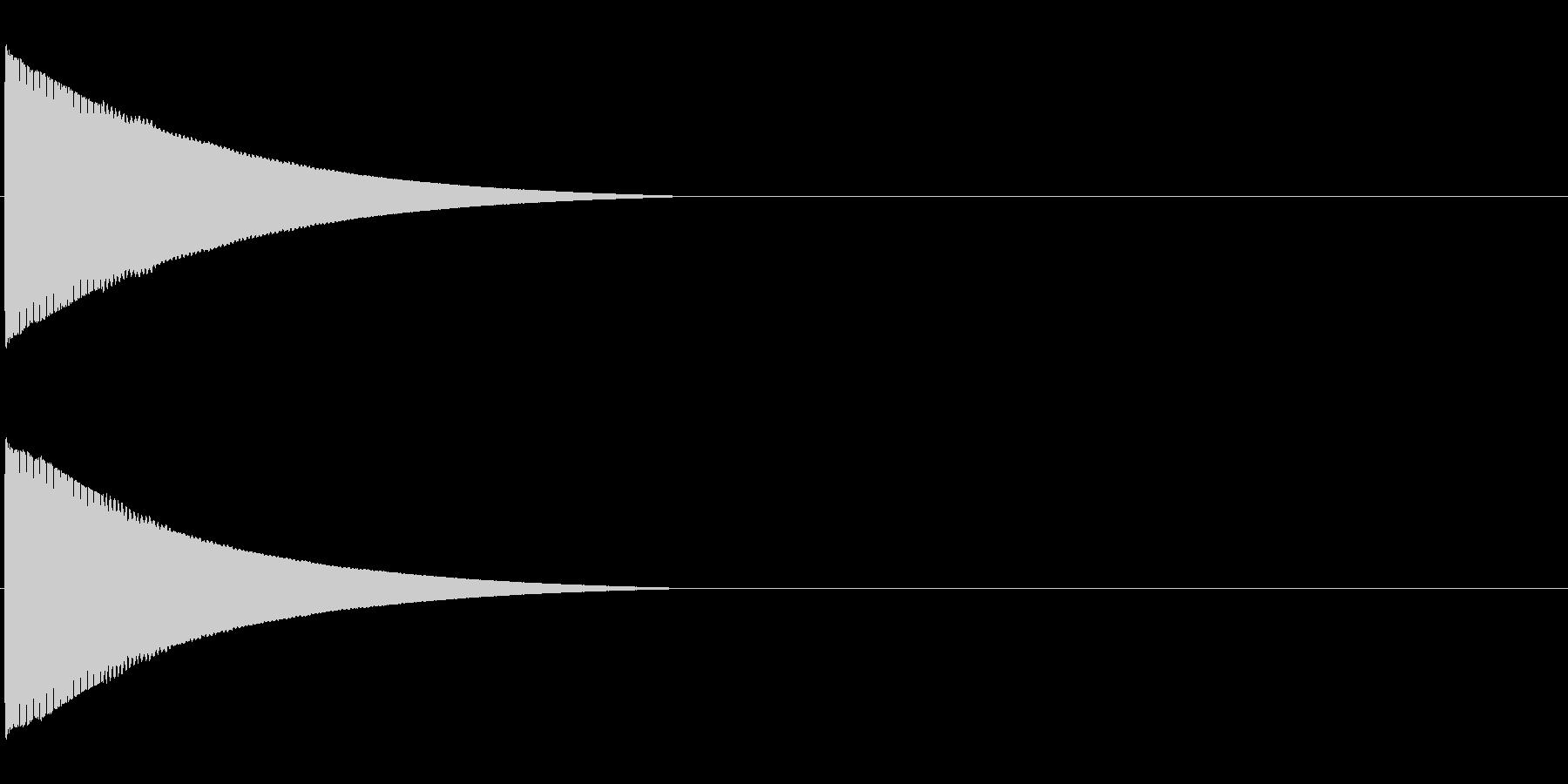 ピローン、ピコーンといった効果音「ソ」の未再生の波形