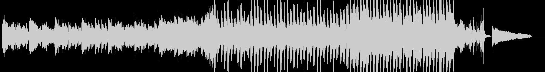 わくわくする前向きなピアノとストリングスの未再生の波形