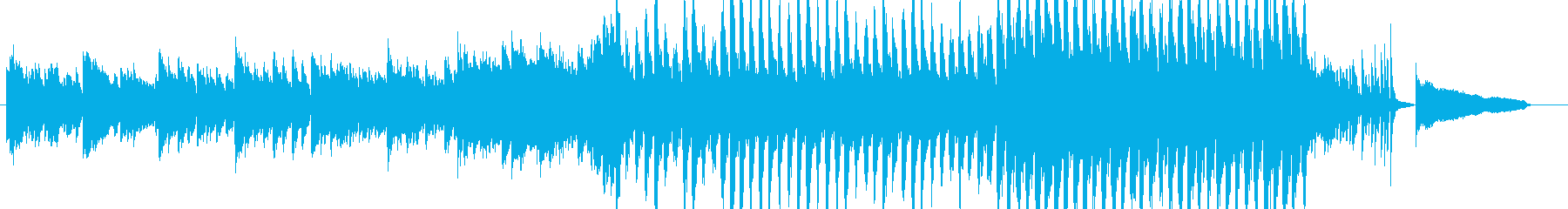 わくわくする前向きなピアノとストリングスの再生済みの波形