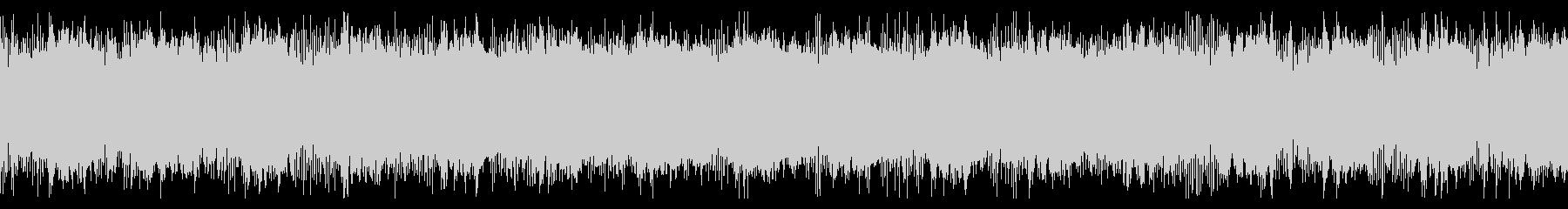 メカニックなアラート音の未再生の波形