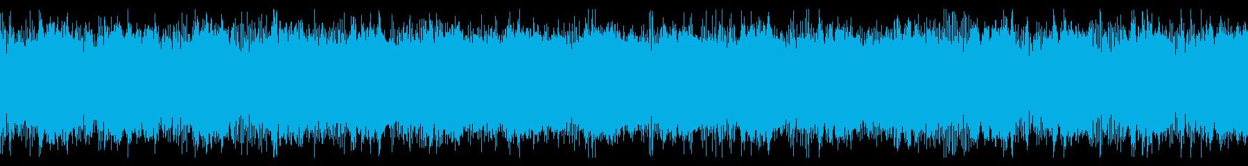メカニックなアラート音の再生済みの波形
