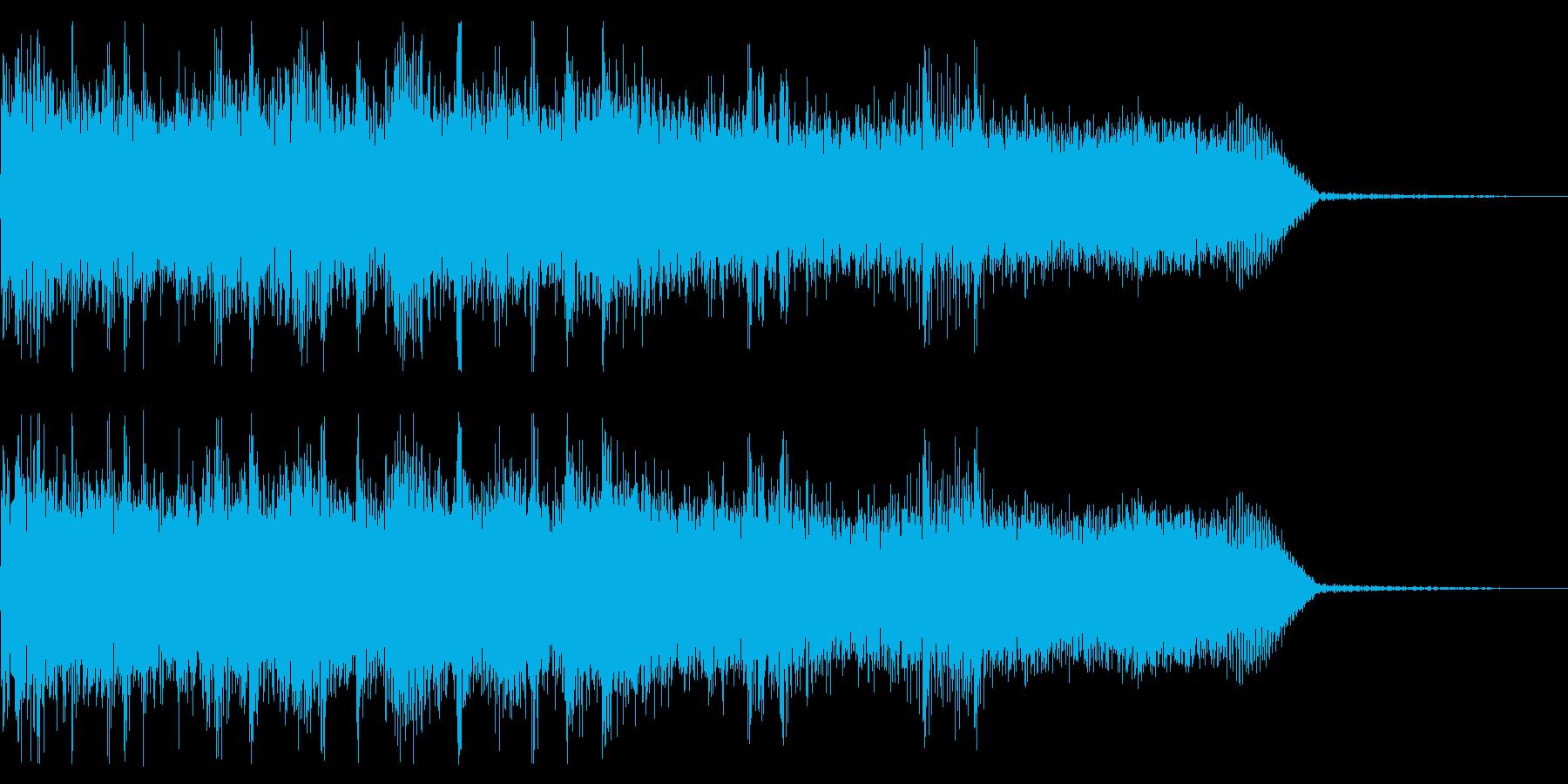 ハードロック・メタル系ジングル 場面転換の再生済みの波形