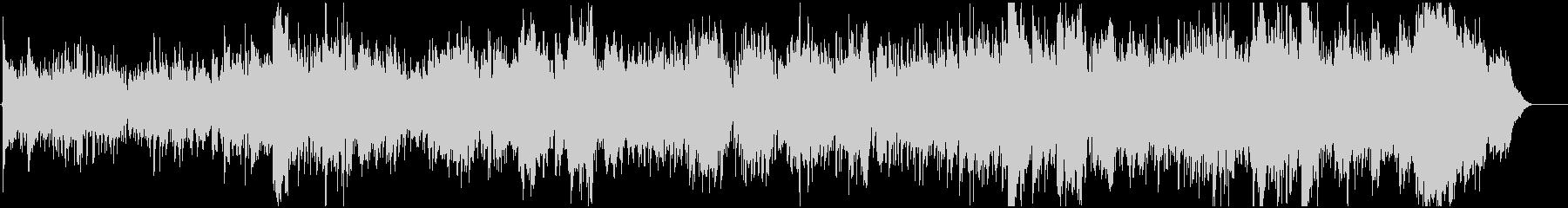 ゆったりした情景的なBGMの未再生の波形