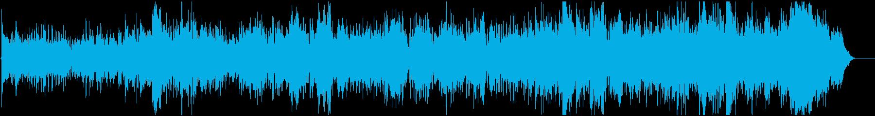 ゆったりした情景的なBGMの再生済みの波形
