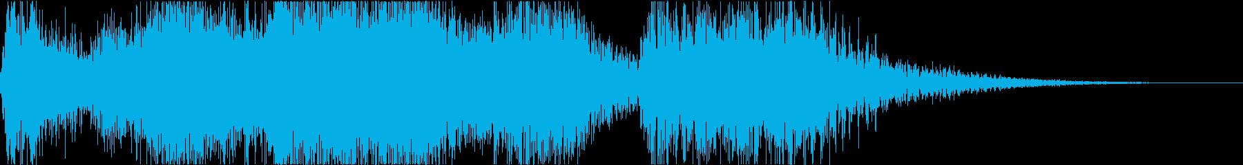 勝利シーンのジングル ファンファーレの再生済みの波形