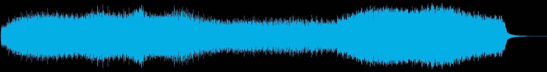 男性コーラスが特徴の荘厳なホラーBGMの再生済みの波形