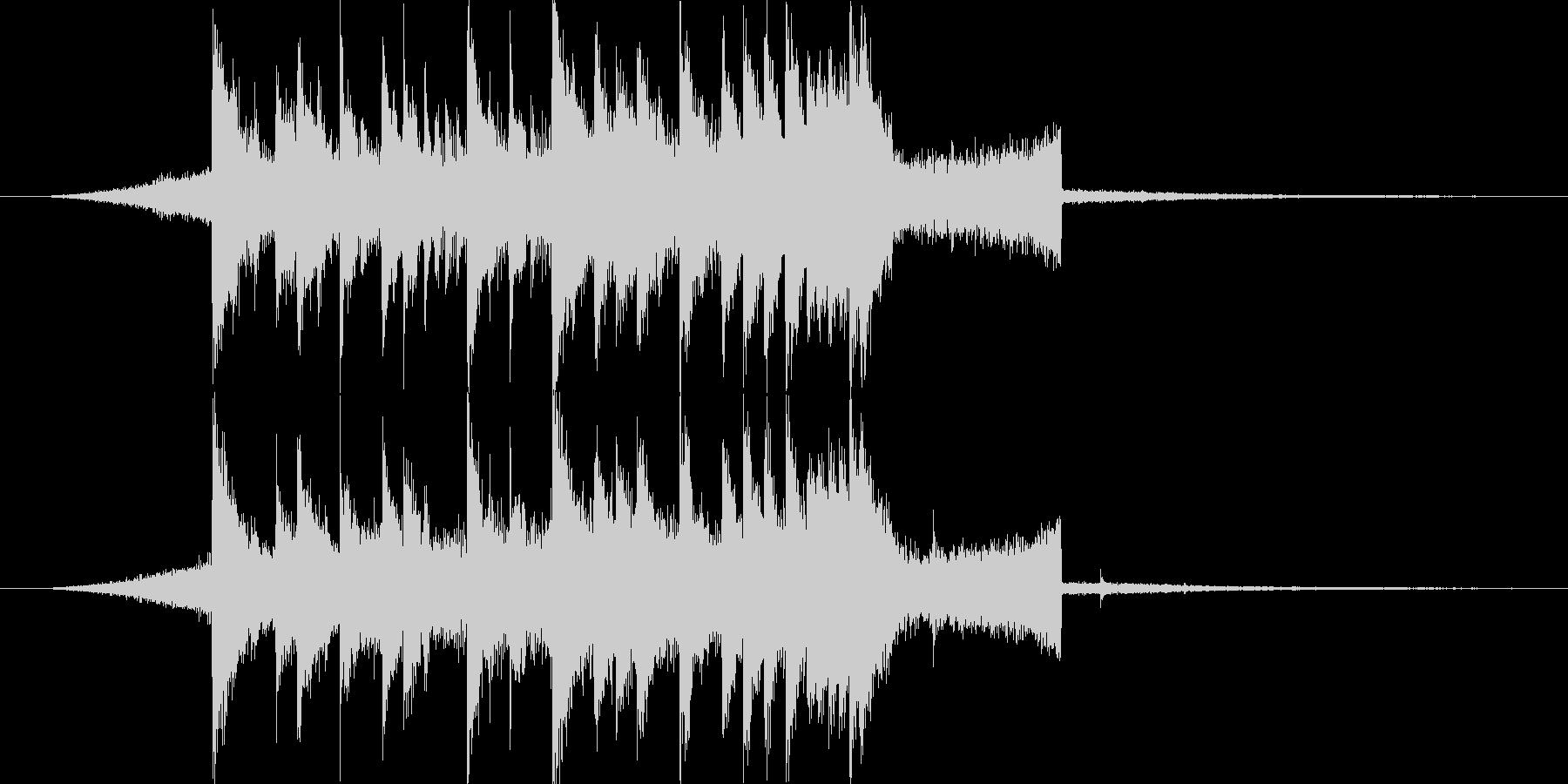 シンセがかわいいジングルの未再生の波形