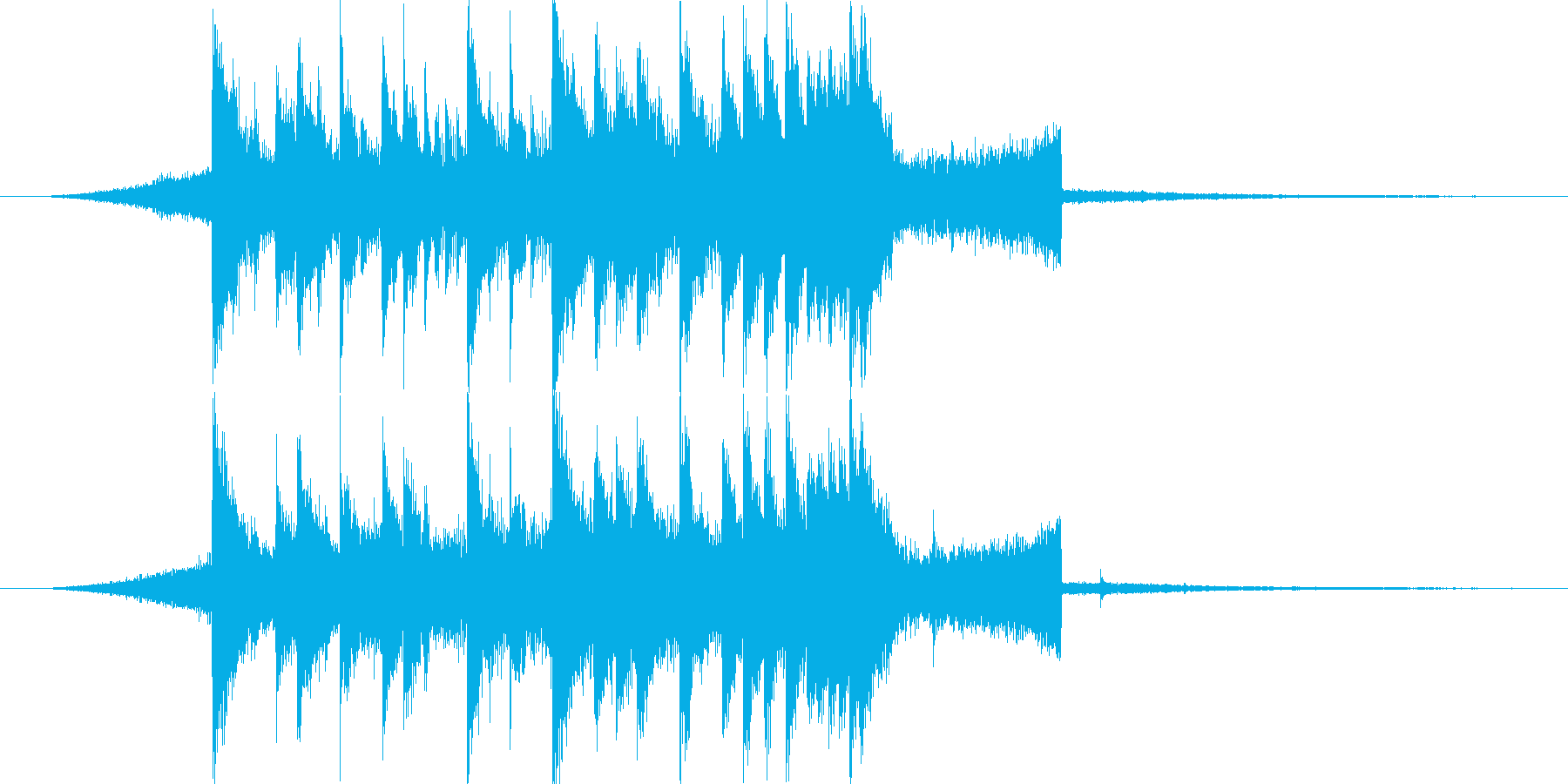 シンセがかわいいジングルの再生済みの波形