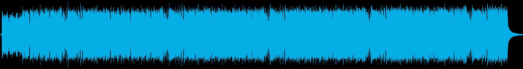 シューゲイザー風のゆったりとした曲の再生済みの波形