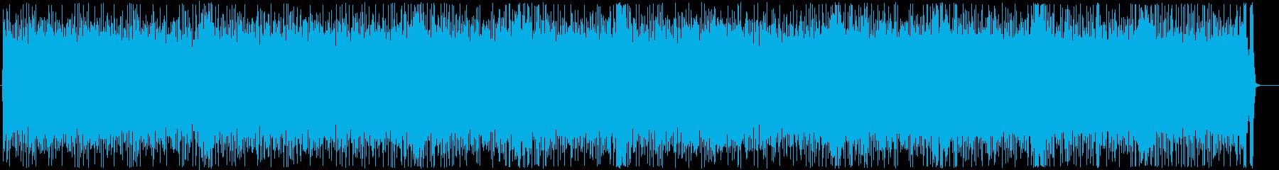 攻撃的なヘビーメタルインストの再生済みの波形