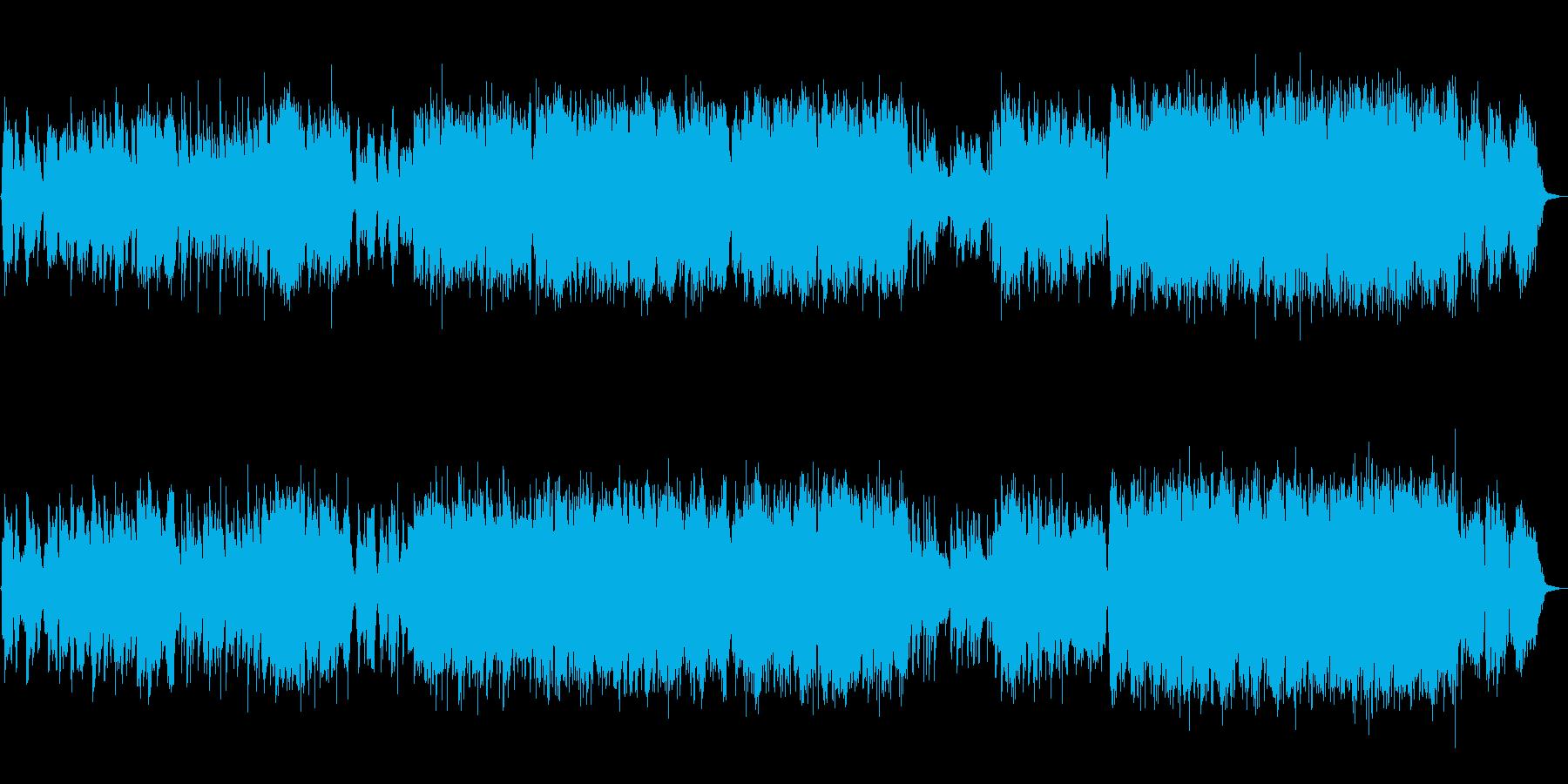 尺八生演奏の壮大で伸びやかな和風曲の再生済みの波形
