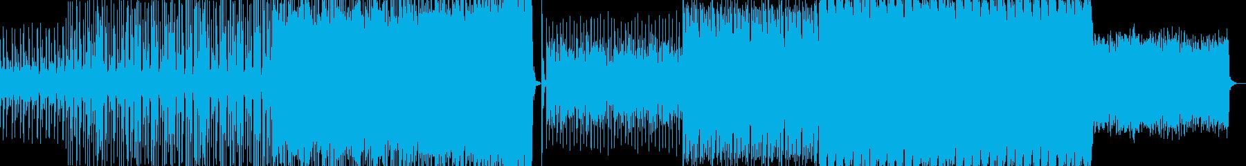 落ち着いた雰囲気のEDMサウンドの再生済みの波形