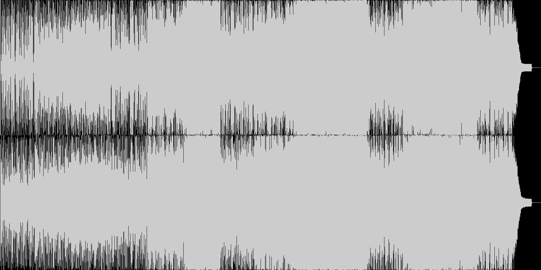 哀愁的なE・ギターの旋律のBGMの未再生の波形
