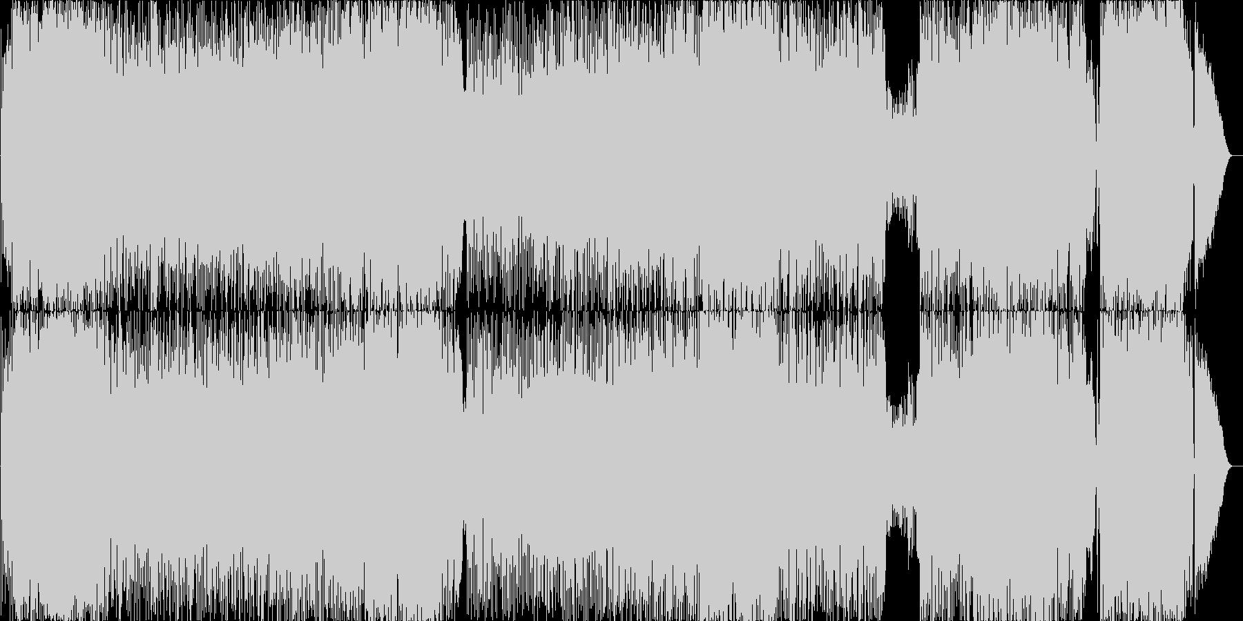 スウィングした勢いのあるロックの未再生の波形