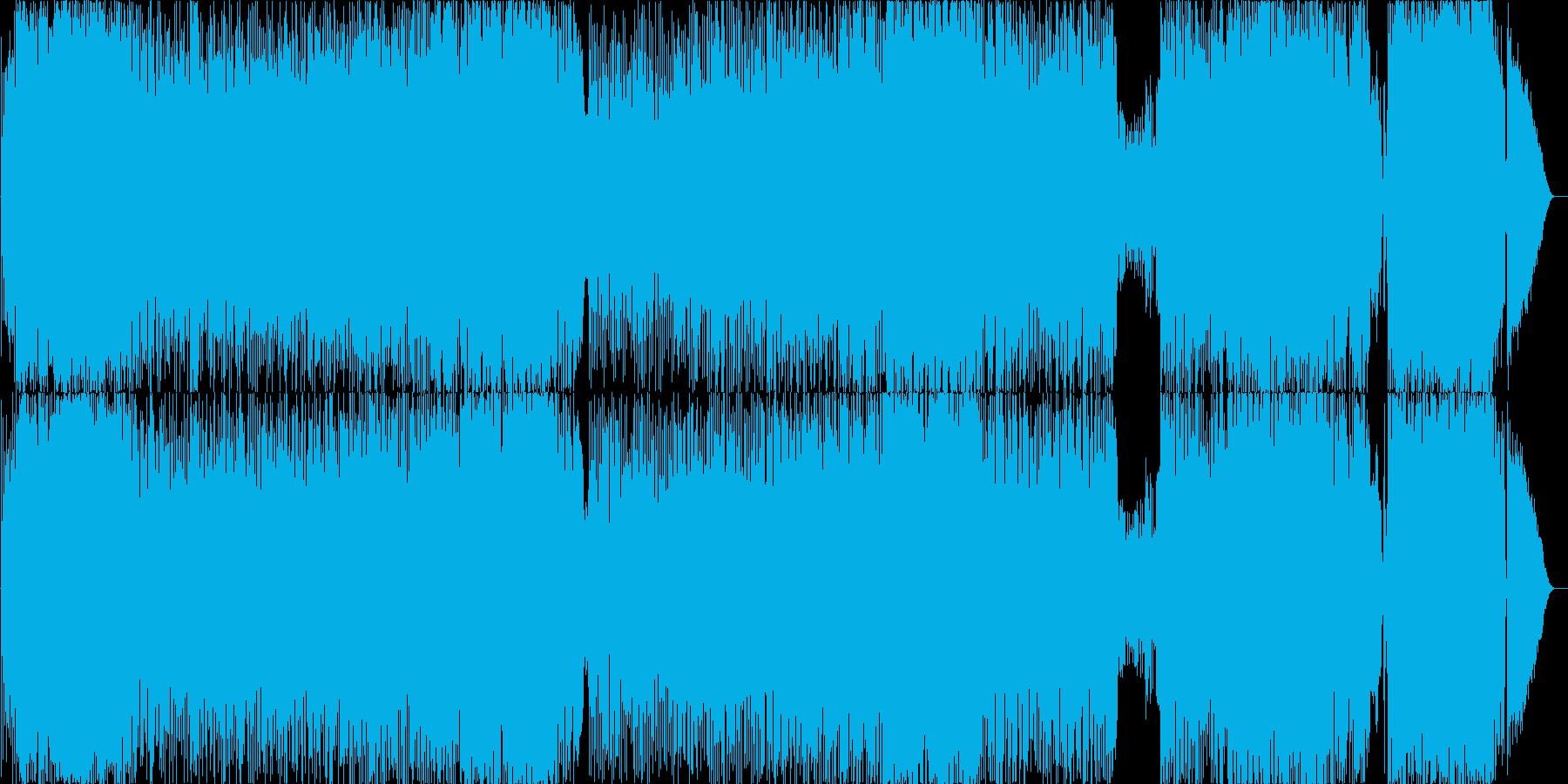 スウィングした勢いのあるロックの再生済みの波形
