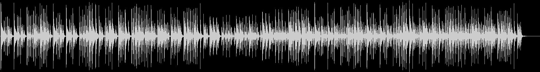 木琴がメインでほのぼのとした曲の未再生の波形