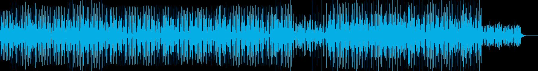 クイズ・考察・推理・解説のポップな曲の再生済みの波形
