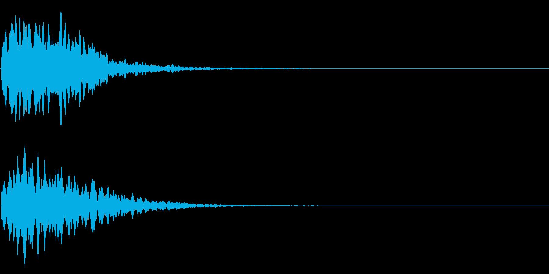 ゲームスタート、決定、ボタン音-108の再生済みの波形