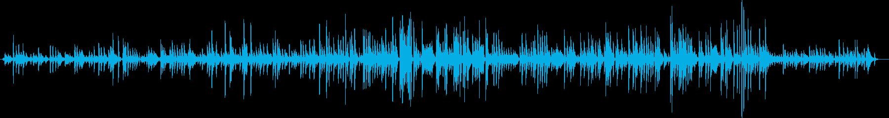 レコードから聞こえるジャズピアノの再生済みの波形