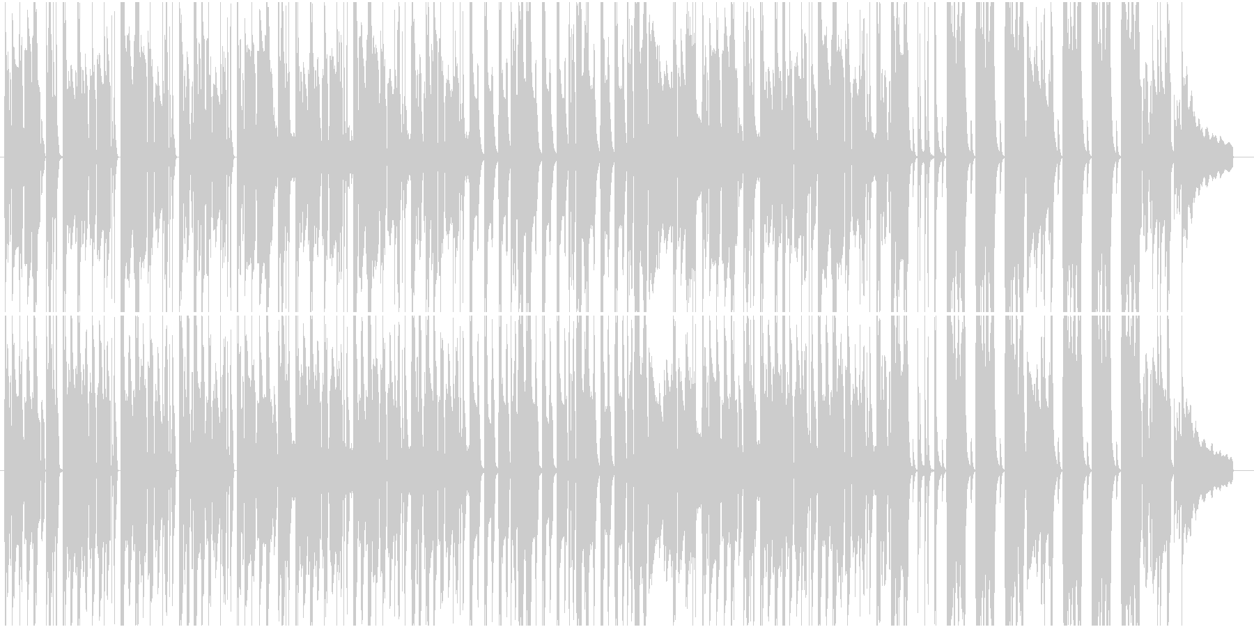 アニメ 日常 CM ほのぼの のんびりの未再生の波形