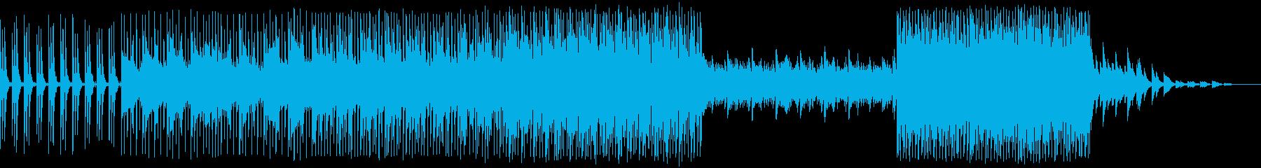 キラキラした雰囲気のスローテンポEDMの再生済みの波形