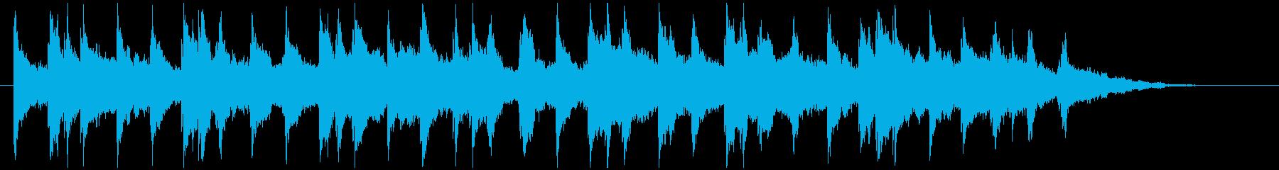 アンビエントで雰囲気のあるソフトピアノの再生済みの波形