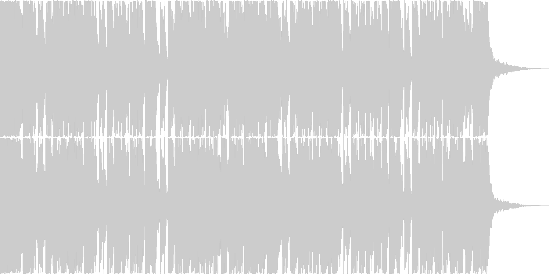 Kawaii Futurebassの未再生の波形