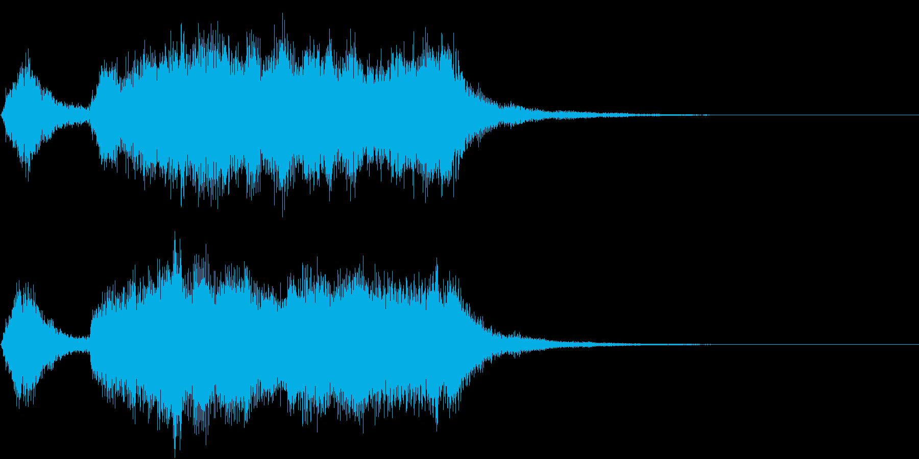 テッテレー!/達成/レベルアップSE1の再生済みの波形