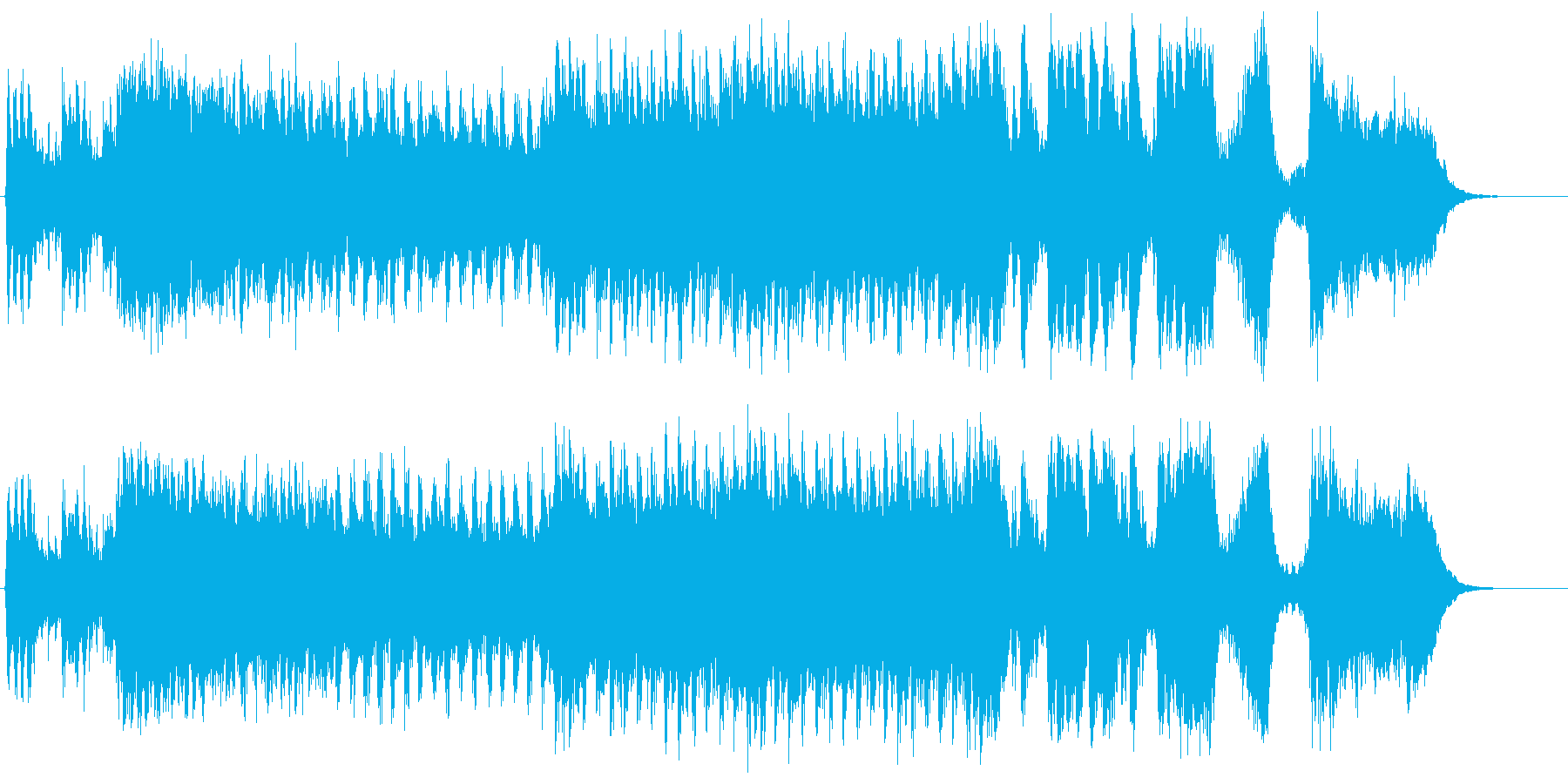 勇壮な合唱オーケストラ:フル版の再生済みの波形