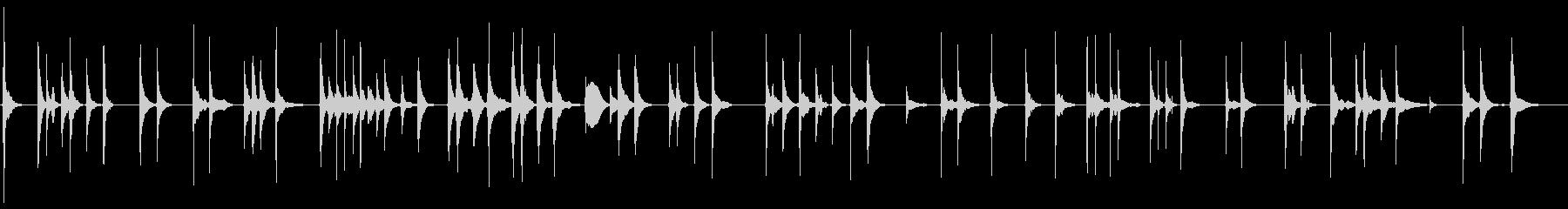 侘びしい三味線爪弾きソロの未再生の波形