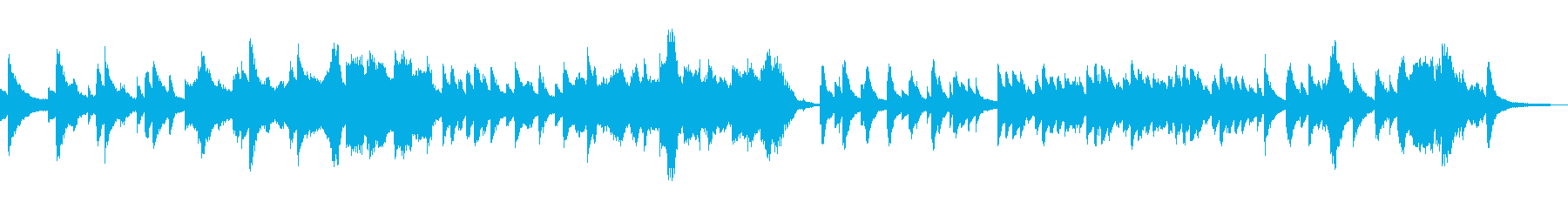 憂鬱な雰囲気のBGMの再生済みの波形