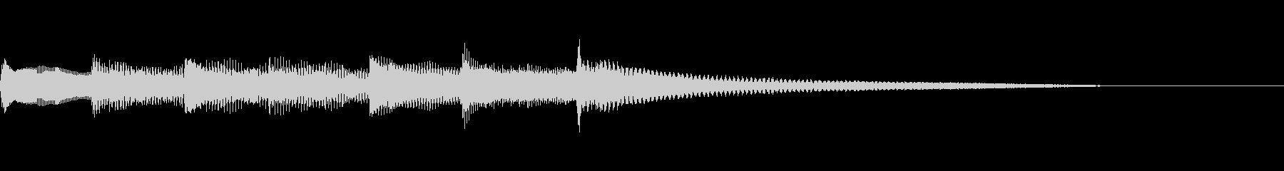 【生演奏】優しい雰囲気のピアノジングルの未再生の波形