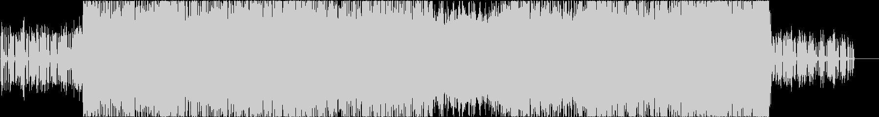 クールなシンセに激しいメタルインストの未再生の波形