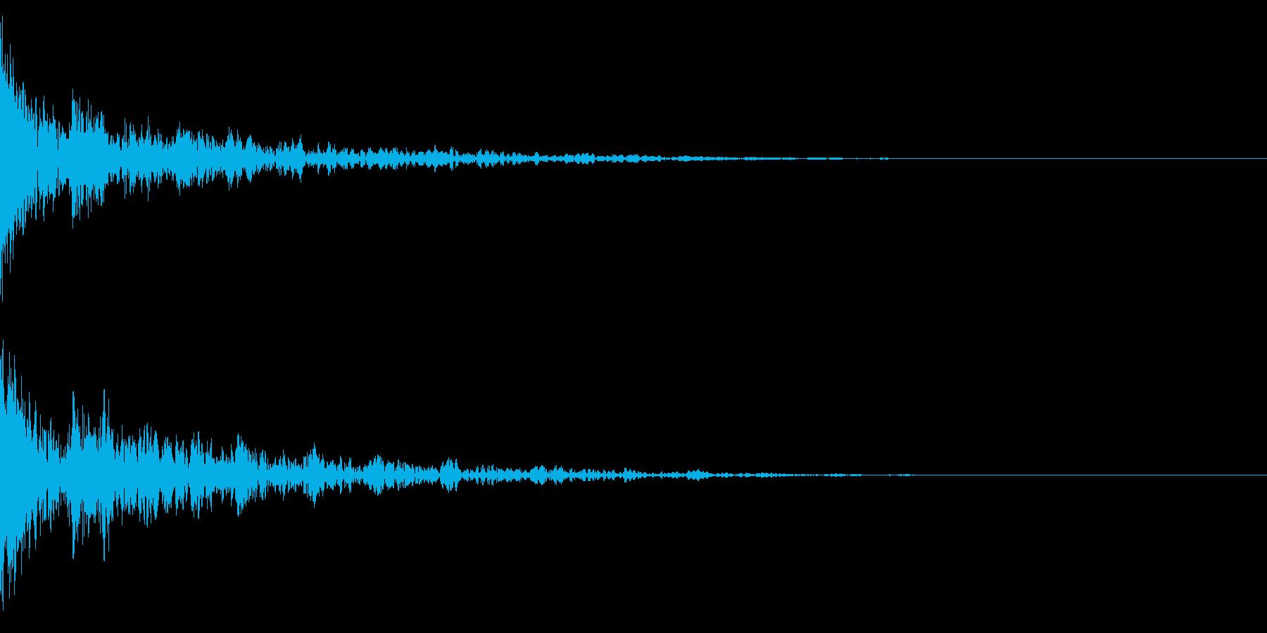 ドーン-39-2(インパクト音)の再生済みの波形