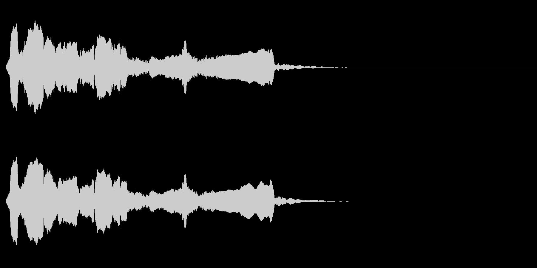 シンプルな終幕◆篠笛生演奏の和風効果音の未再生の波形