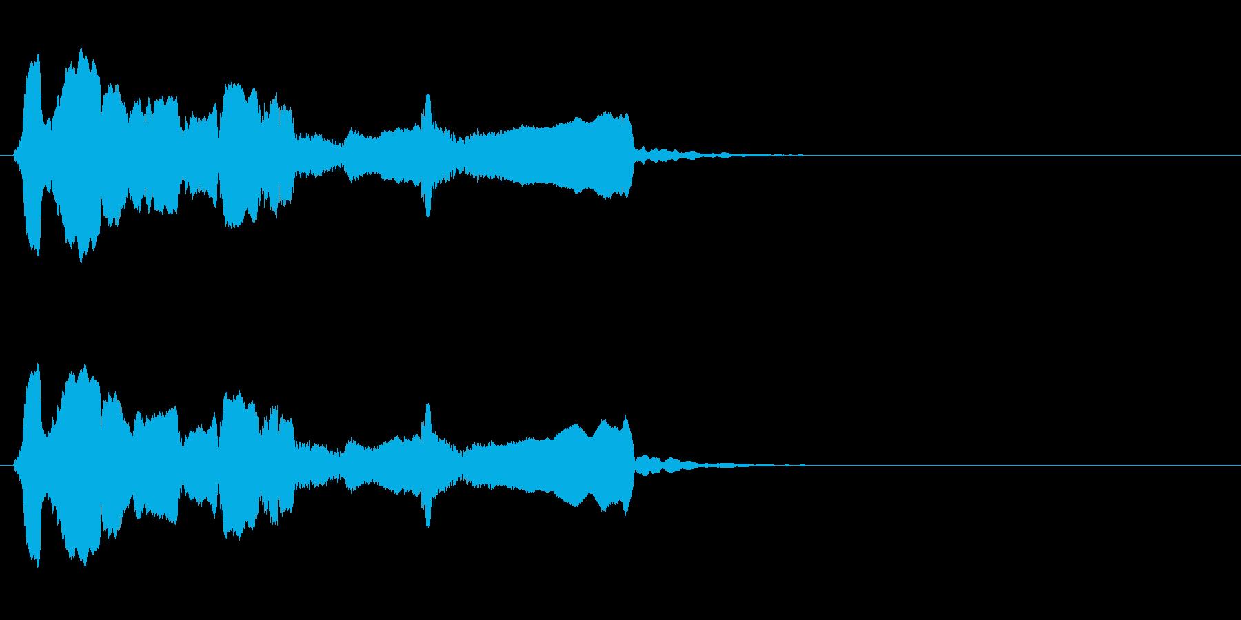 シンプルな終幕◆篠笛生演奏の和風効果音の再生済みの波形