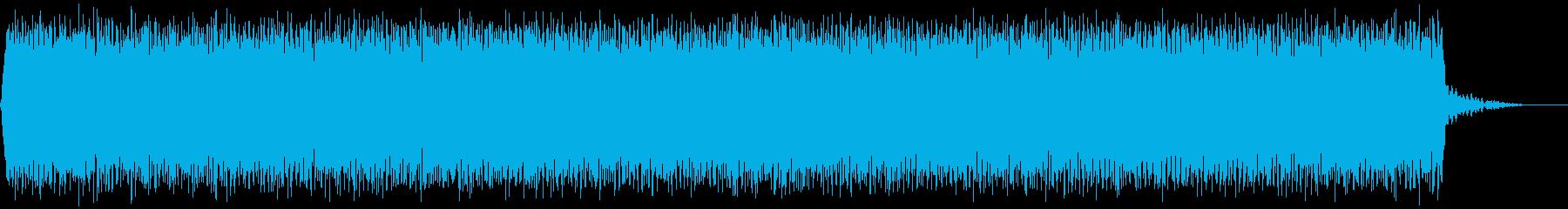 【アンビエント】ドローン_03 実験音の再生済みの波形