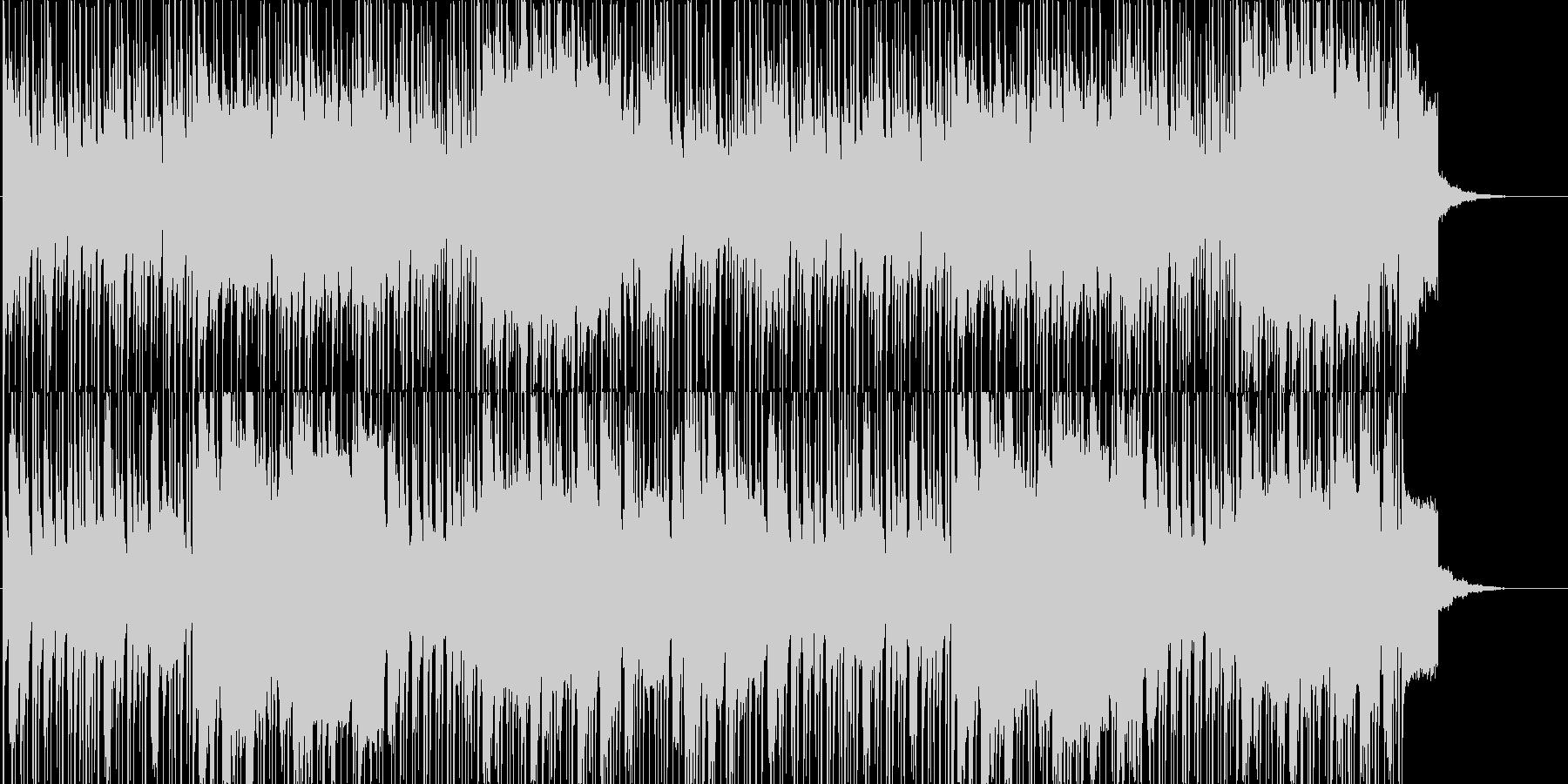 中東テイストのBGMの未再生の波形