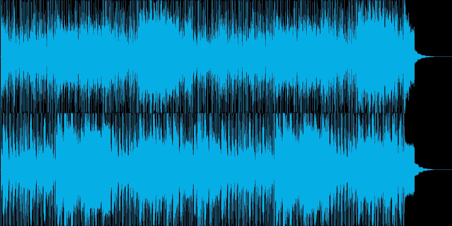 中東テイストのBGMの再生済みの波形