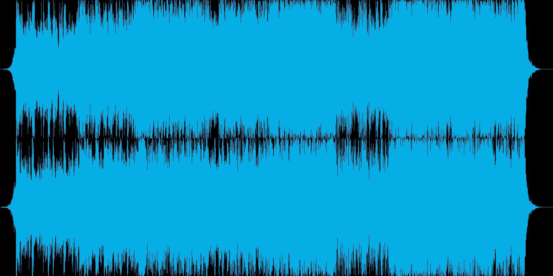 ハリウッド映画風のオーケストラの小品の再生済みの波形