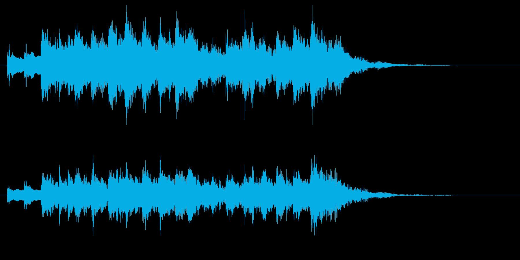 キラキラした前向きで懐かしいジングル2の再生済みの波形