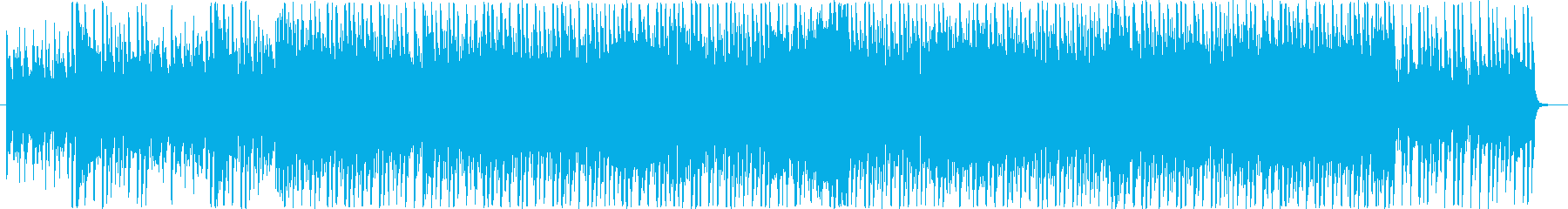 金属的なフニャフニャ音のダンス曲の再生済みの波形