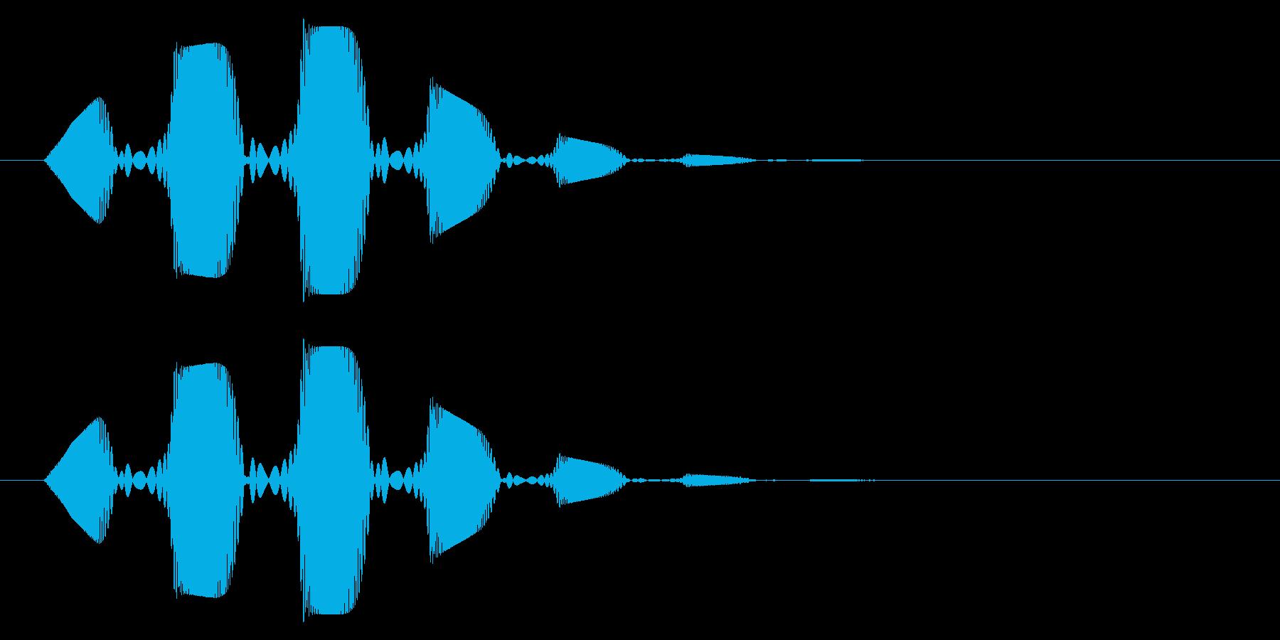 プヨヨン(柔らかい・揺れる・スライム)の再生済みの波形