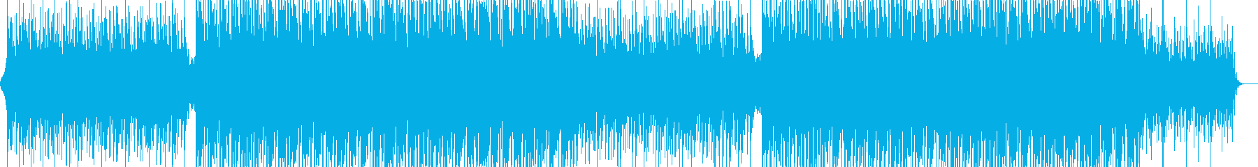 BGM that is positive and steadily progressing's reproduced waveform