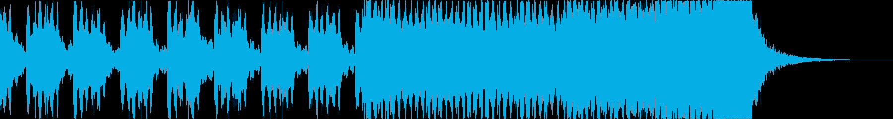 登場 入場 アイドル オープニングEDMの再生済みの波形