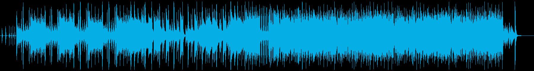 かわいくアップテンポなピアノジャズ風曲の再生済みの波形